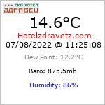 Current Weather Conditions in Hotelzdravets WX, 1311 m